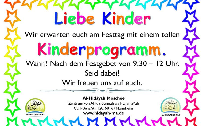Kinderprogramm am Festtag